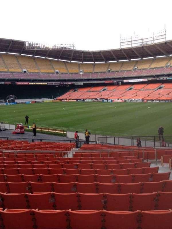 RFK Stadium, secção: 202, fila: 12, lugar: 5