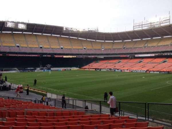 RFK Stadium, secção: 201, fila: 11, lugar: 7