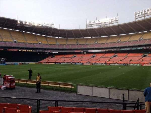 RFK Stadium, secção: 102, fila: 8, lugar: 7