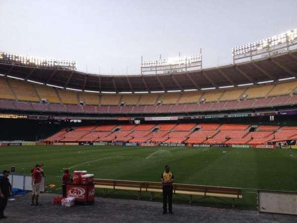 RFK Stadium, secção: 102, fila: 7, lugar: 7