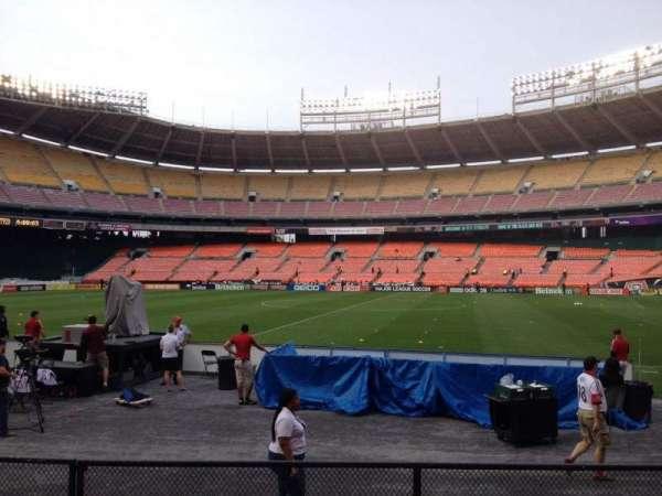 RFK Stadium, secção: 105, fila: 7, lugar: 8