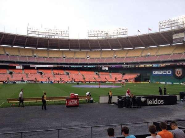 RFK Stadium, secção: 109, fila: 8, lugar: 10