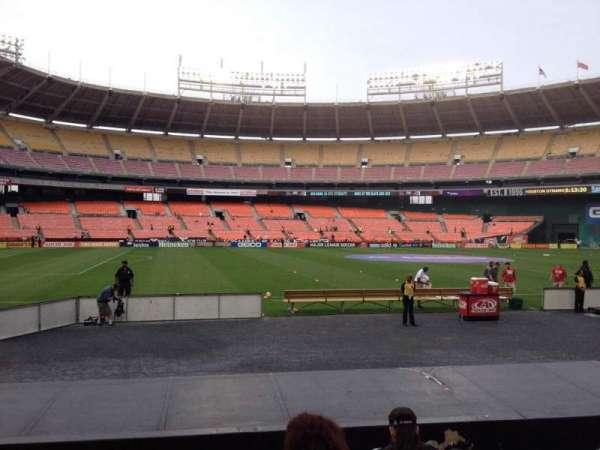 RFK Stadium, secção: 110, fila: 8, lugar: 9