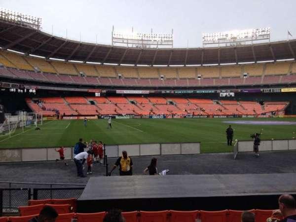RFK Stadium, secção: 112, fila: 9, lugar: 8