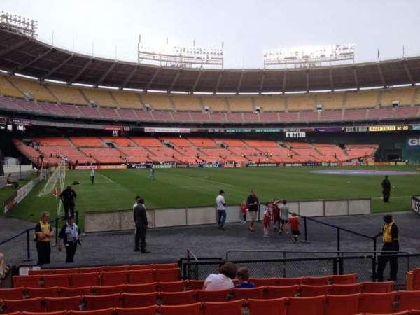 RFK Stadium, secção: 113, fila: 9, lugar: 8