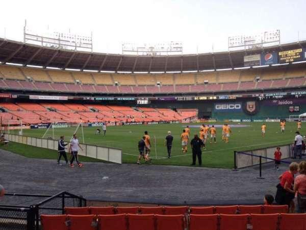 RFK Stadium, secção: 115, fila: 6, lugar: 7