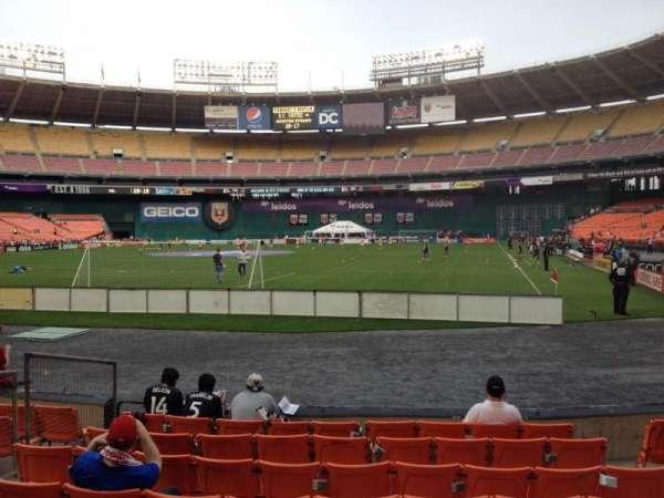 RFK Stadium, secção: 118, fila: 7, lugar: 6