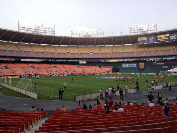 RFK Stadium, secção: 214, fila: 6, lugar: 8