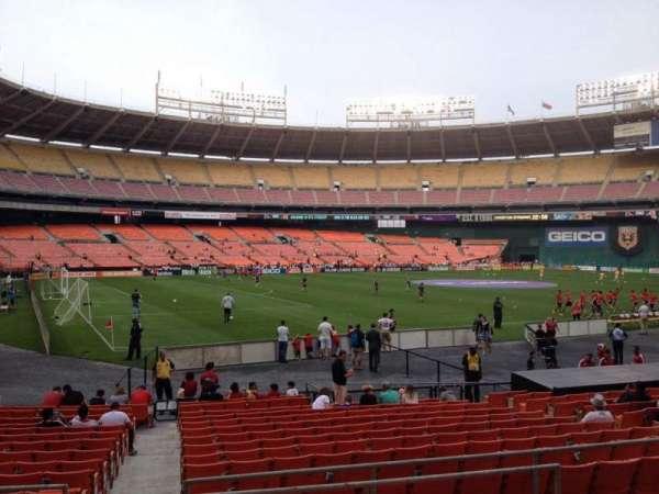 RFK Stadium, secção: 213, fila: 6, lugar: 7