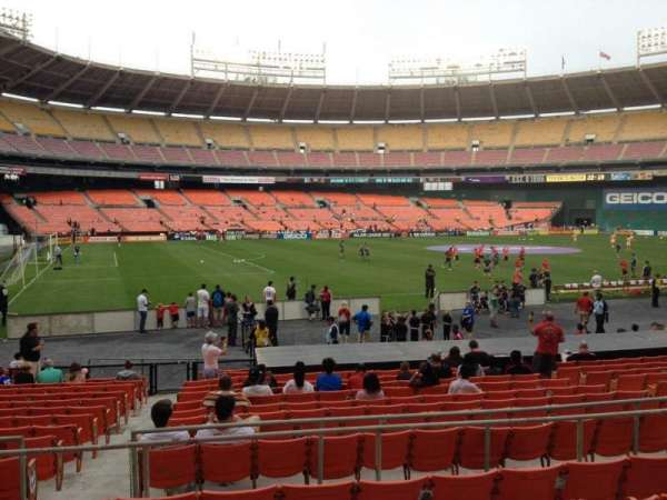RFK Stadium, secção: 212, fila: 6, lugar: 10