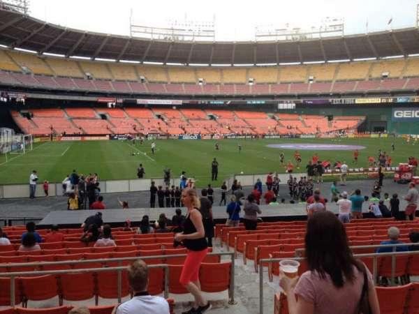 RFK Stadium, secção: 211, fila: 6, lugar: 1