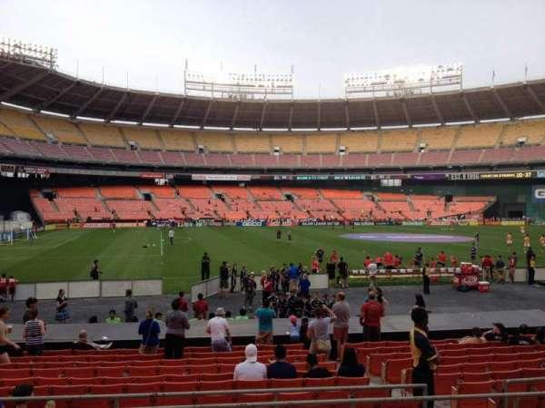 RFK Stadium, secção: 210, fila: 6, lugar: 6