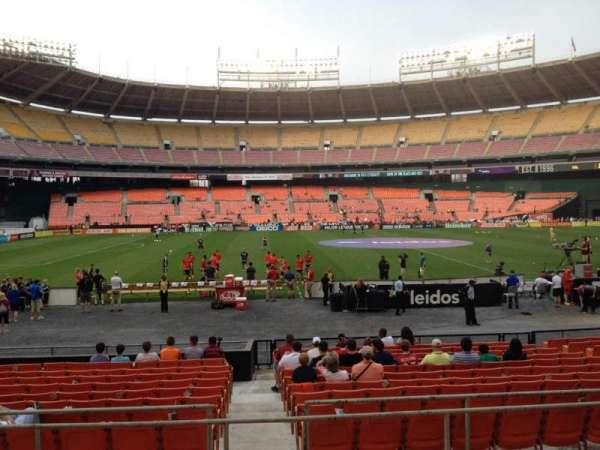 RFK Stadium, secção: 208, fila: 6, lugar: 8