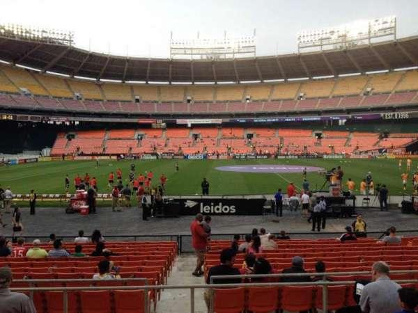 RFK Stadium, secção: 207, fila: 6, lugar: 7