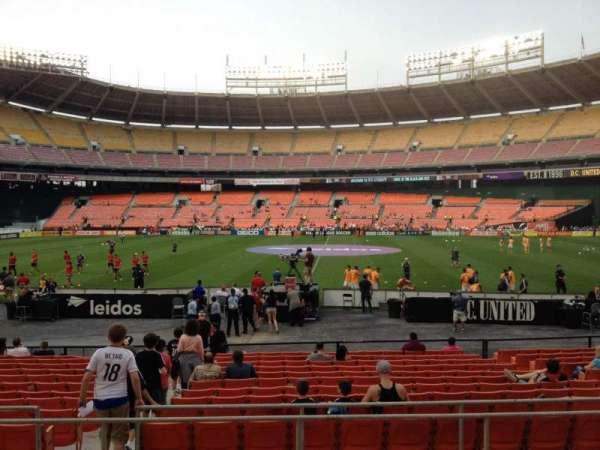 RFK Stadium, secção: 206, fila: 6, lugar: 8