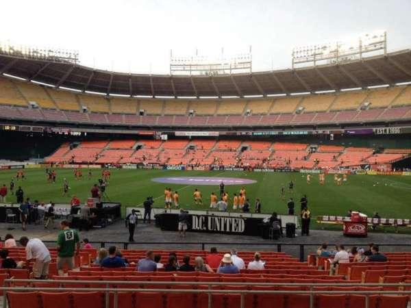 RFK Stadium, secção: 205, fila: 7, lugar: 9