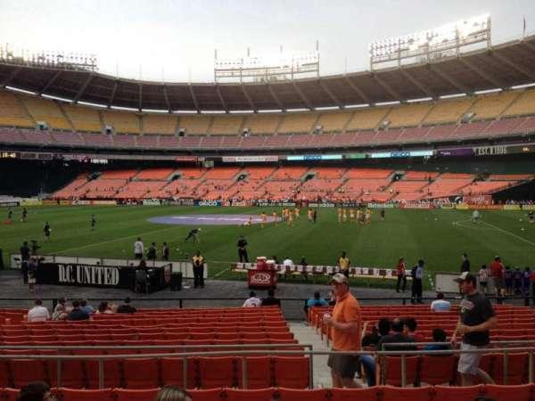 RFK Stadium, secção: 204, fila: 7, lugar: 10