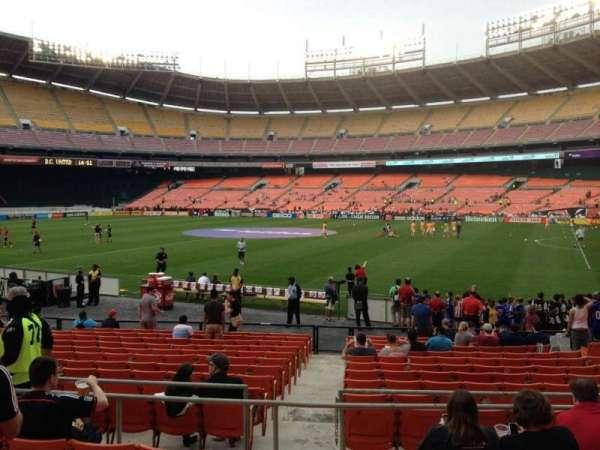 RFK Stadium, secção: 203, fila: 6, lugar: 7