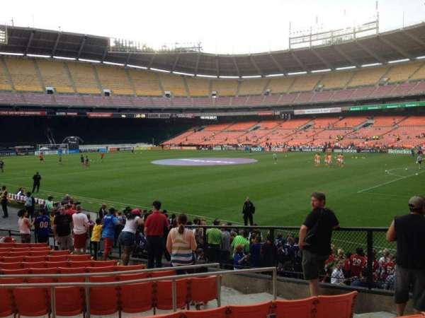 RFK Stadium, secção: 201, fila: 6, lugar: 7