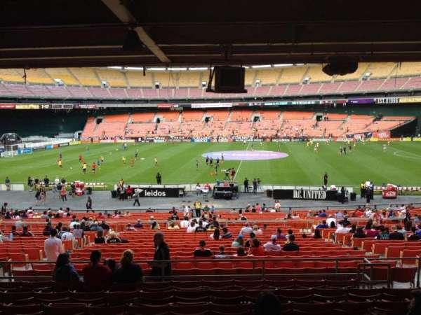 RFK Stadium, secção: 306, fila: 11, lugar: 7