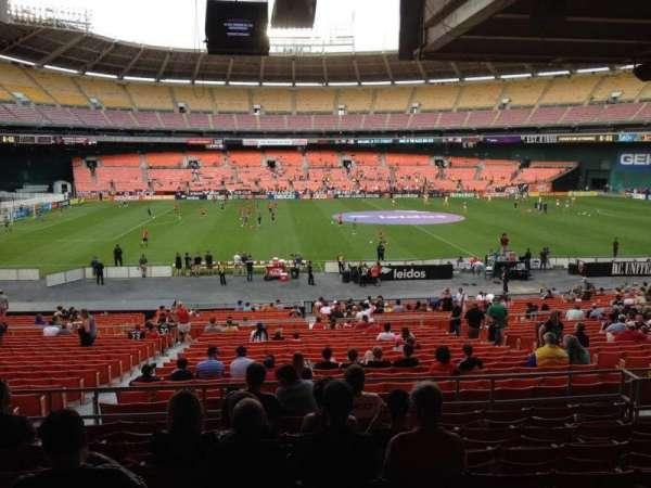 RFK Stadium, secção: 308, fila: 9, lugar: 9