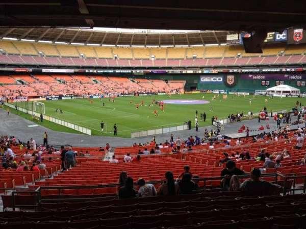RFK Stadium, secção: 313, fila: 9, lugar: 11