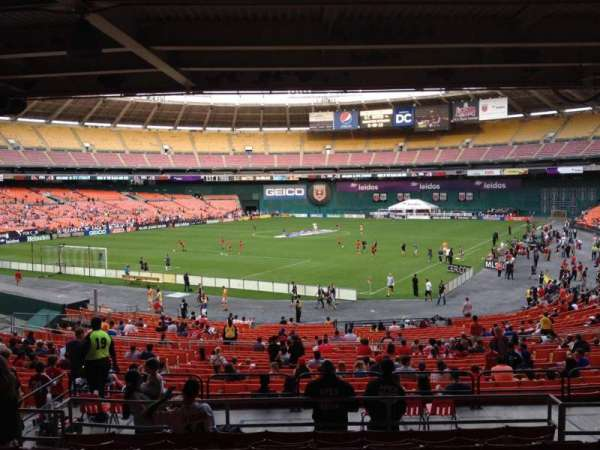 RFK Stadium, secção: 316, fila: 9, lugar: 8