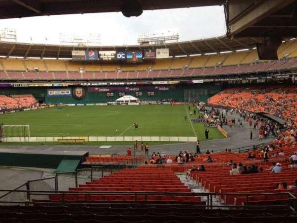 RFK Stadium, secção: 318, fila: 9, lugar: 7