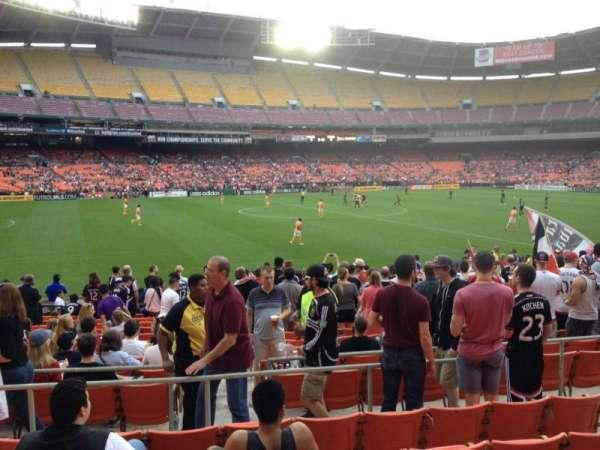 RFK Stadium, secção: 236, fila: 6, lugar: 7