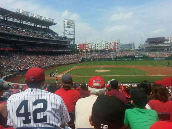 Nationals Park, secção: 128, fila: EE, lugar: 15