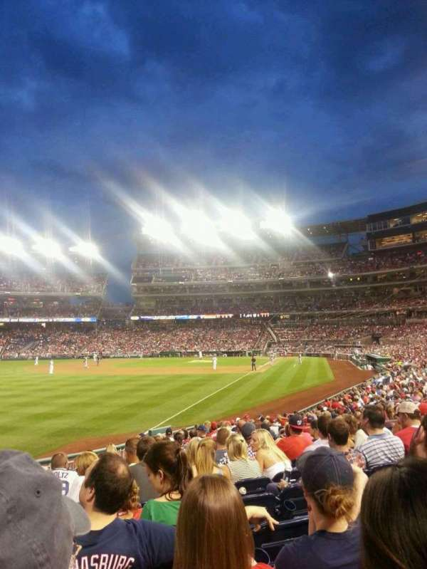 Nationals Park, secção: 108, fila: W, lugar: 14