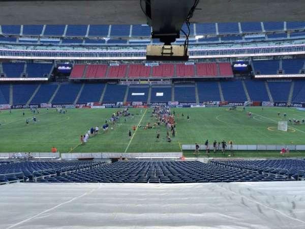 Gillette Stadium, secção: 109, fila: 38, lugar: 12