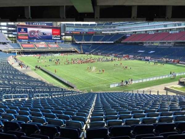 Gillette Stadium, secção: 102, fila: 38, lugar: 12