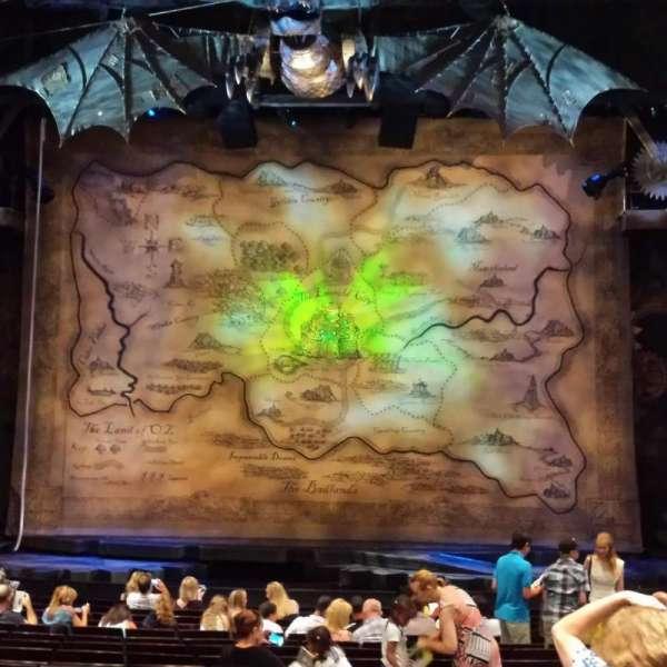 Gershwin Theatre, secção: Orchestra C, fila: O, lugar: 114