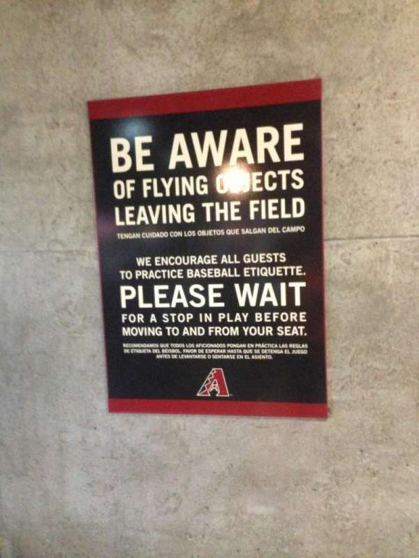 Chase Field, secção: Lower Level Concourse
