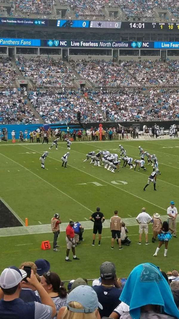 Bank of America Stadium, secção: 118, fila: 18, lugar: 14