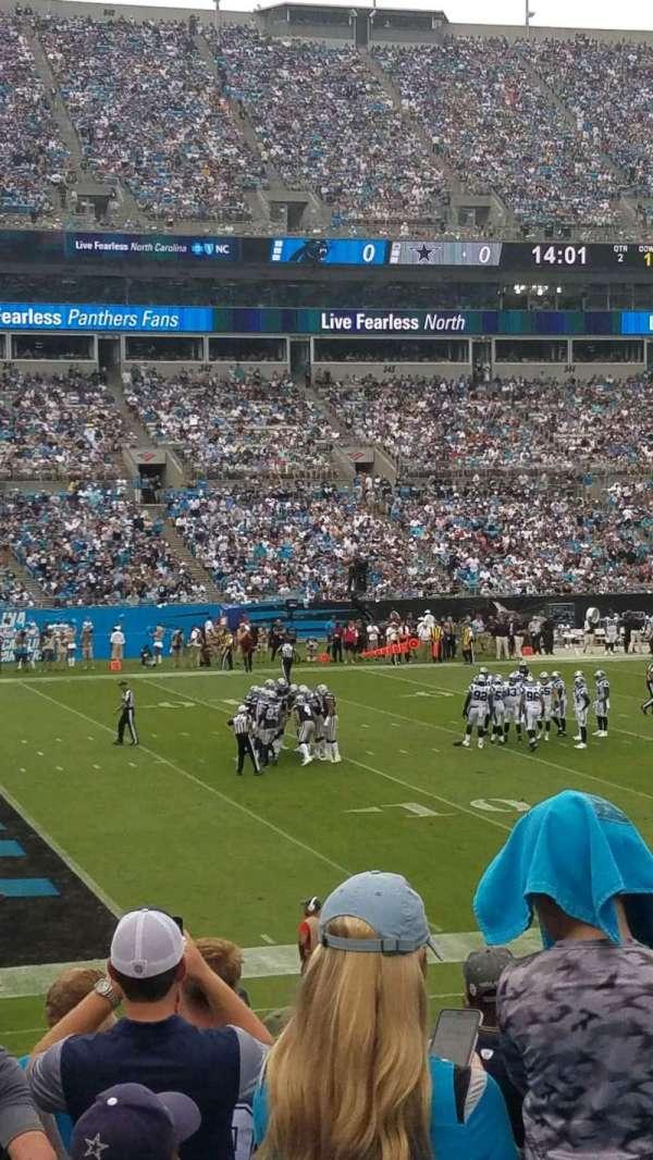 Bank of America Stadium, secção: 116, fila: 18, lugar: 14
