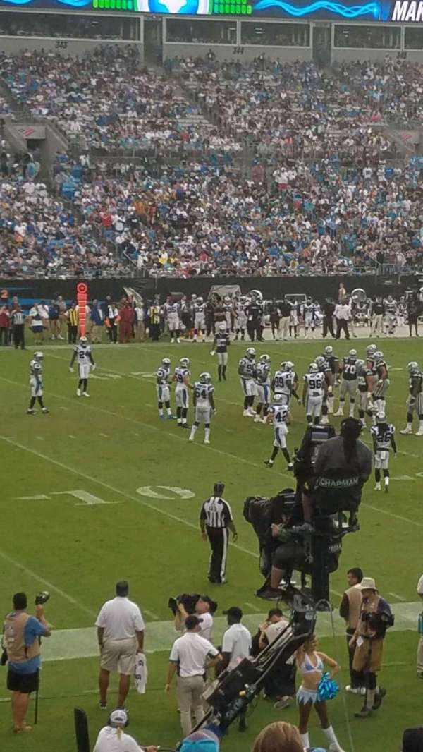 Bank of America Stadium, secção: 116, fila: 18, lugar: 13