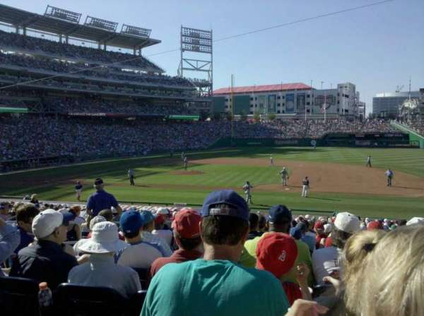 Nationals Park, secção: 130U, fila: FF, lugar: 12
