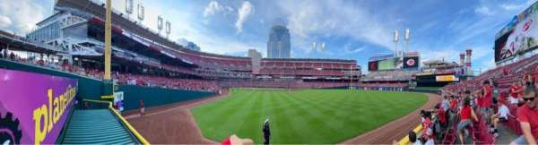 Great American Ball Park, secção: 140, fila: B, lugar: 10