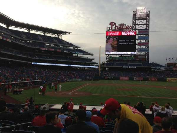 Citizens Bank Park, secção: 118, fila: 16, lugar: 4