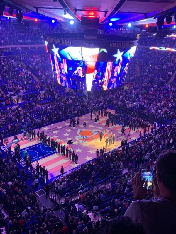 Madison Square Garden, secção: 310, fila: 2, lugar: 4