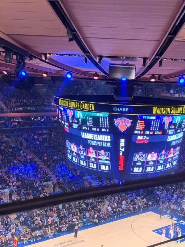 Madison Square Garden, secção: 310, fila: 2, lugar: 5