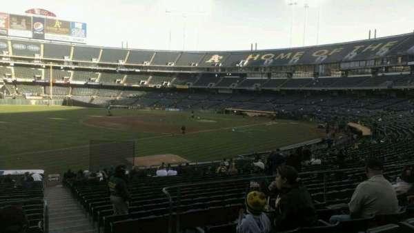 Oakland Coliseum, secção: 128r, fila: 26, lugar: 1