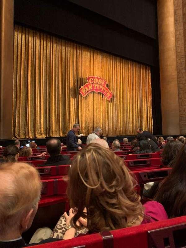 Metropolitan Opera House - Lincoln Center, secção: ORCH, fila: I, lugar: 19