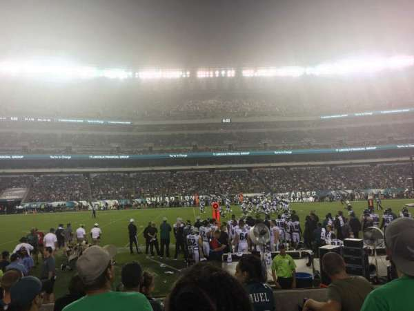 Lincoln Financial Field, secção: 138, fila: 5, lugar: 16,17