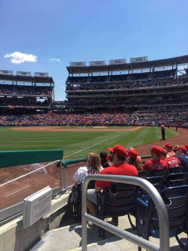 Nationals Park, secção: 108, fila: G, lugar: 1