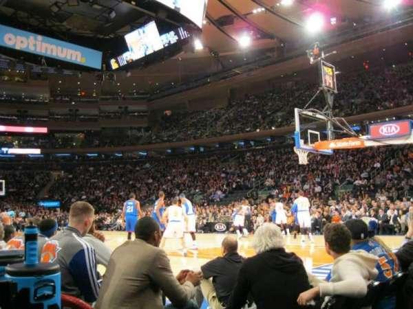 Madison Square Garden, secção: 7, fila: 1, lugar: 4