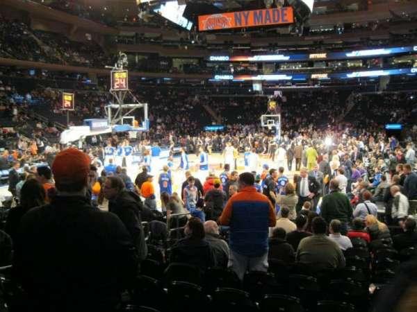 Madison Square Garden, secção: 9, fila: 12, lugar: 7