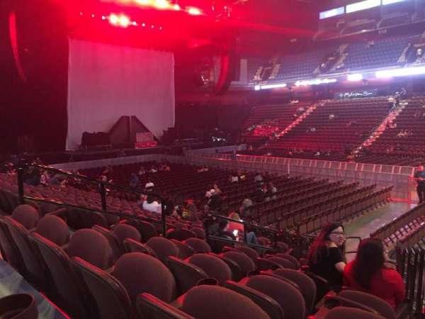 Mohegan Sun Arena, secção: 23, fila: L, lugar: 10